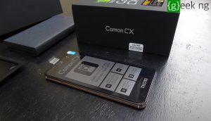 Tecno Camon CX - unboxed