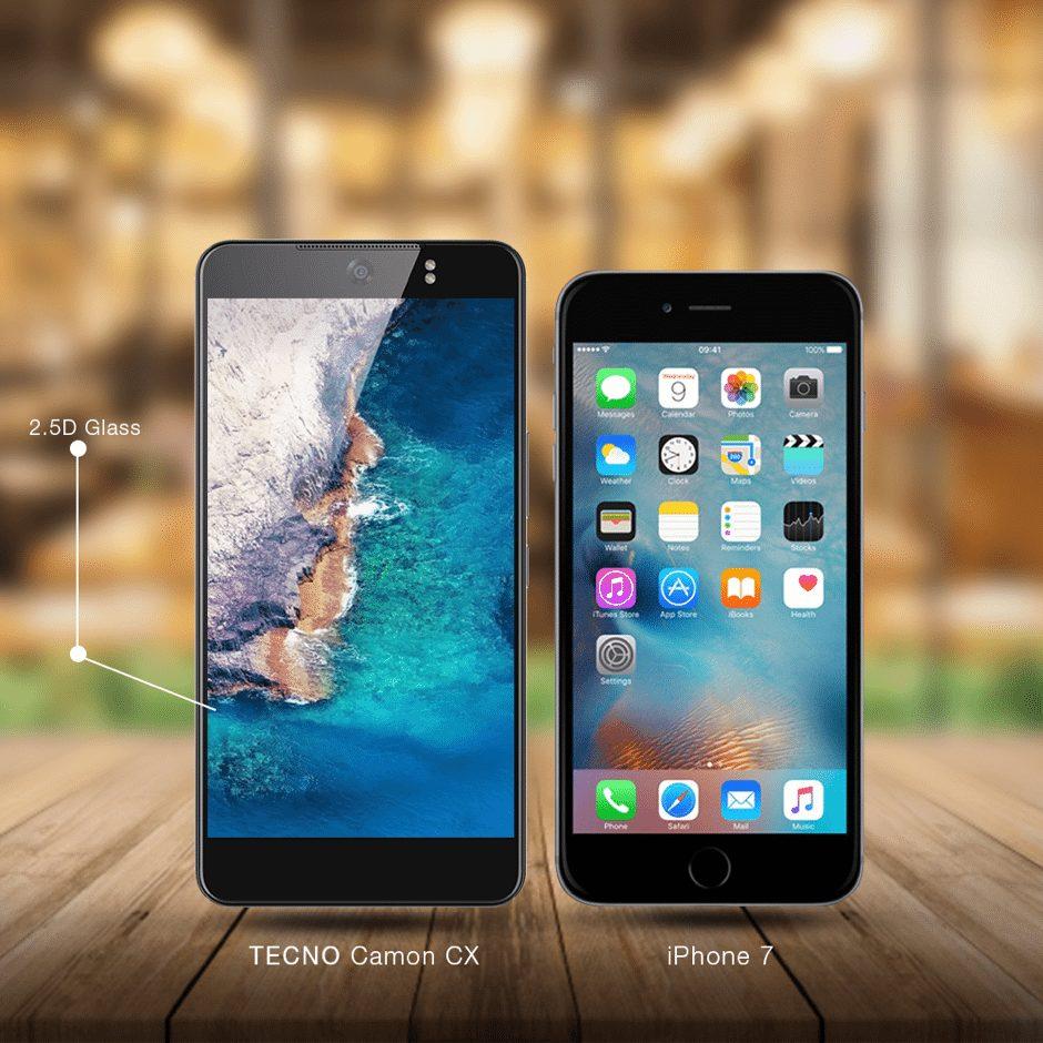 Tecno Camon CX Vs Apple iPhone 7: Battle of The Titans