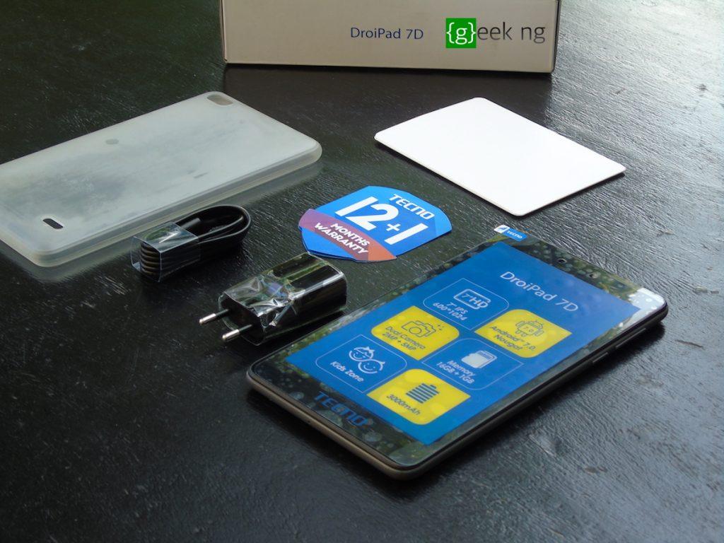 tecno droipad 7D unboxed