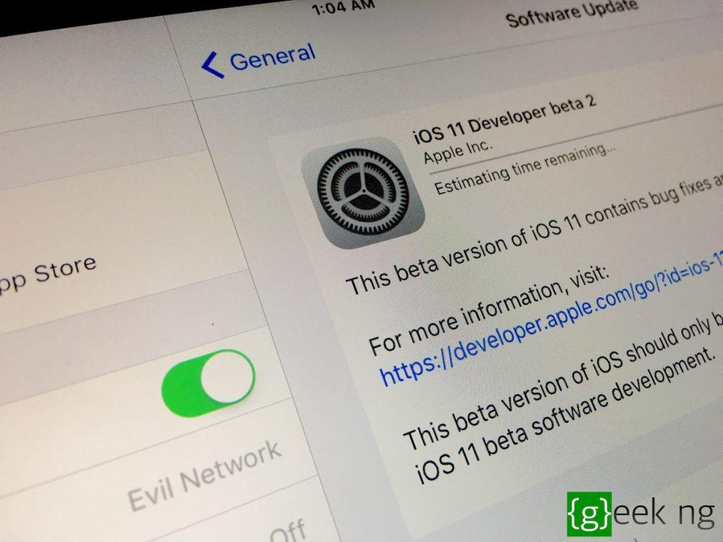ios 11 beta update