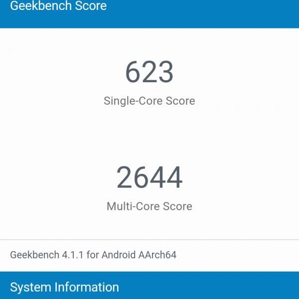 infinix note 4 geekbench 4 benchmark score