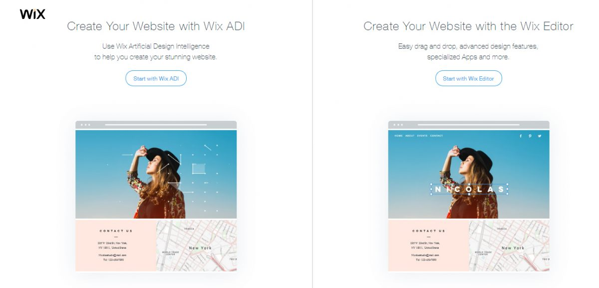Wix Editor & Wix ADI