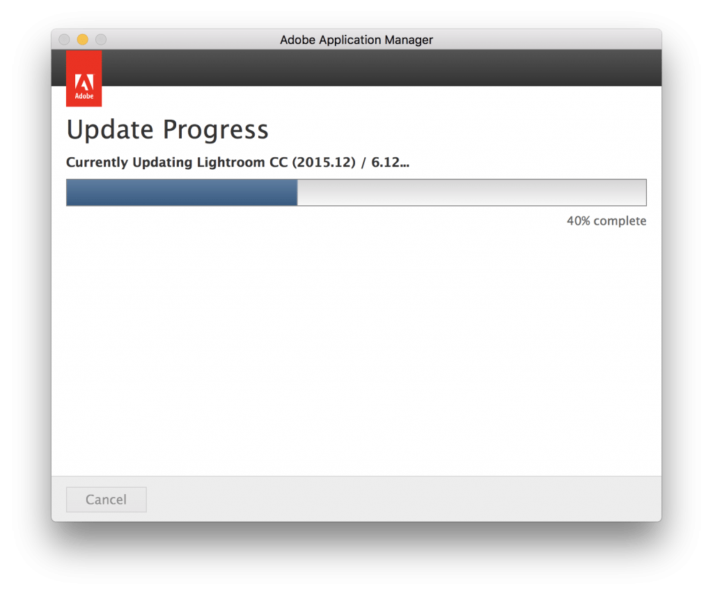 Updating Adobe Lightroom