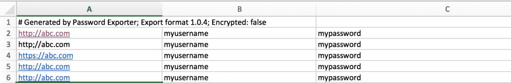 export passwords from chrome to safari