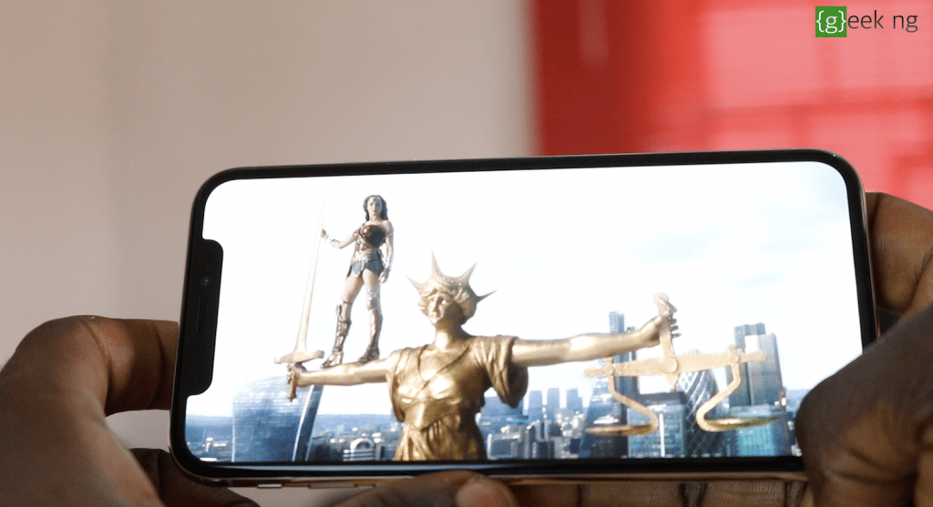 watching movie on iPhone x