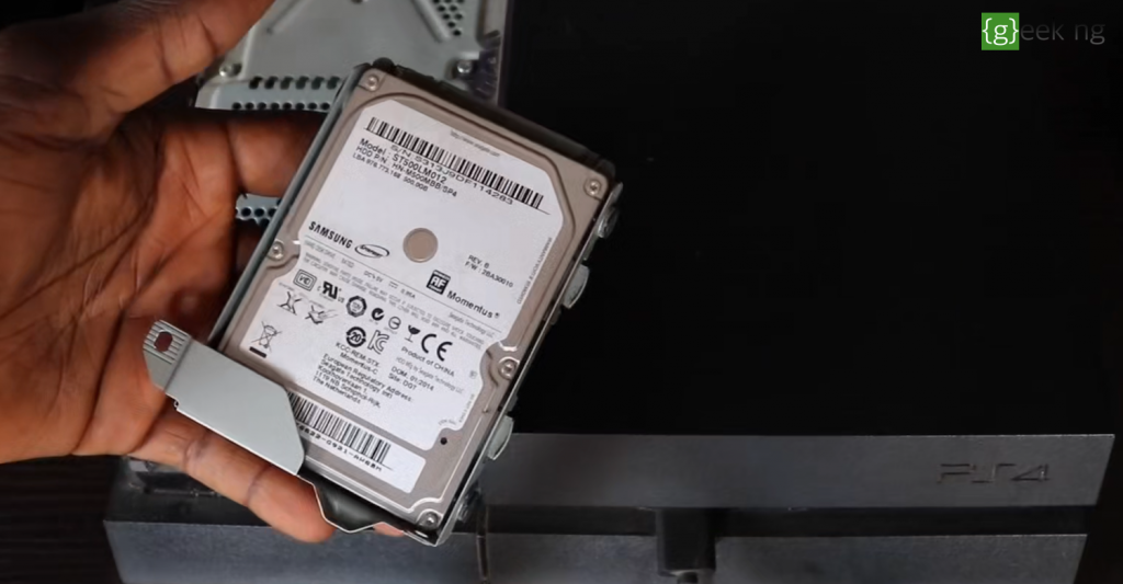 remove ps4 hard disk