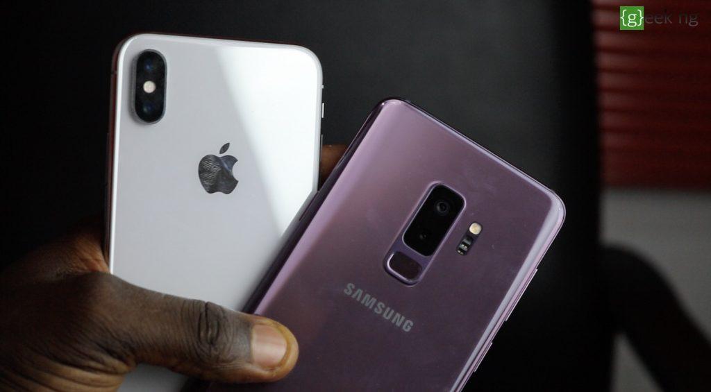 iPhone X camera vs Galaxy S9+ camera