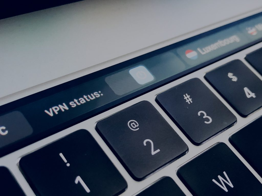 VPN on macbook touchbar