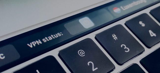 VPN on macbook touchbar