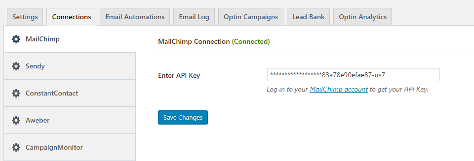 mailchimp-connection