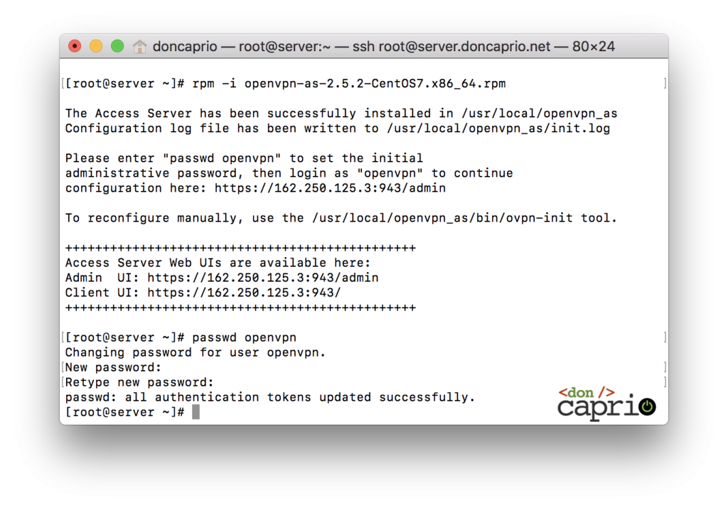 openvpn password set