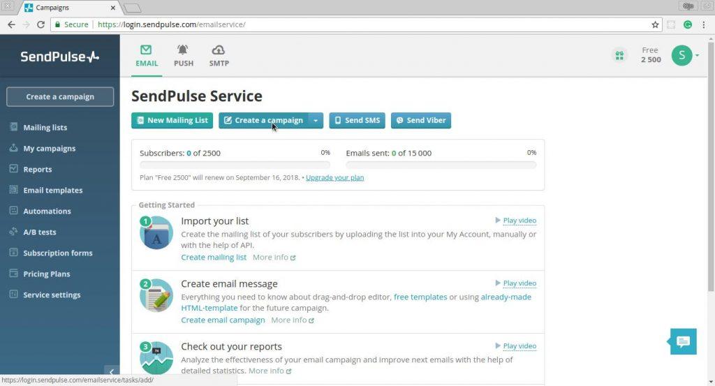 Sendplus Email Dashboard