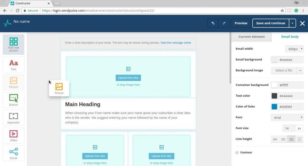 Sendplus Email Template Editor