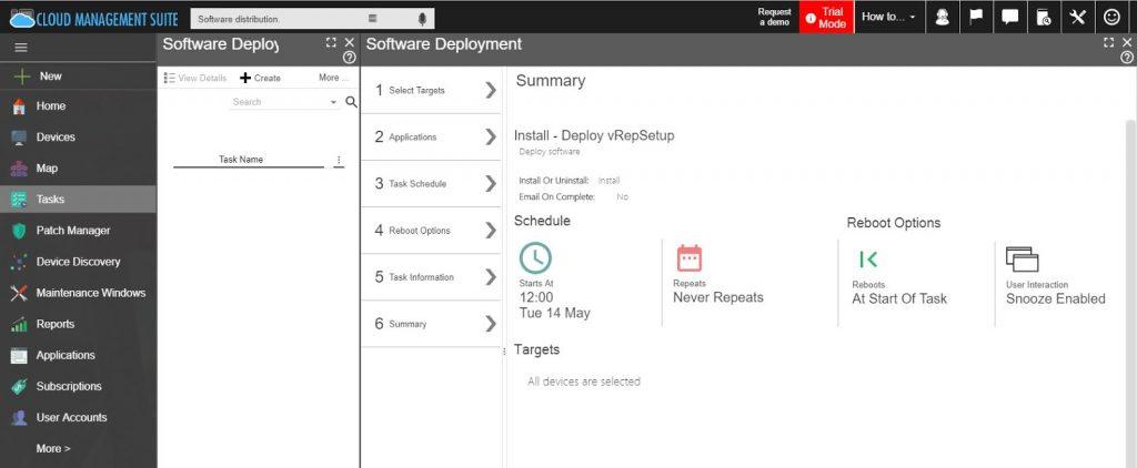 Cloud Management Suite's Software Distribution Feature