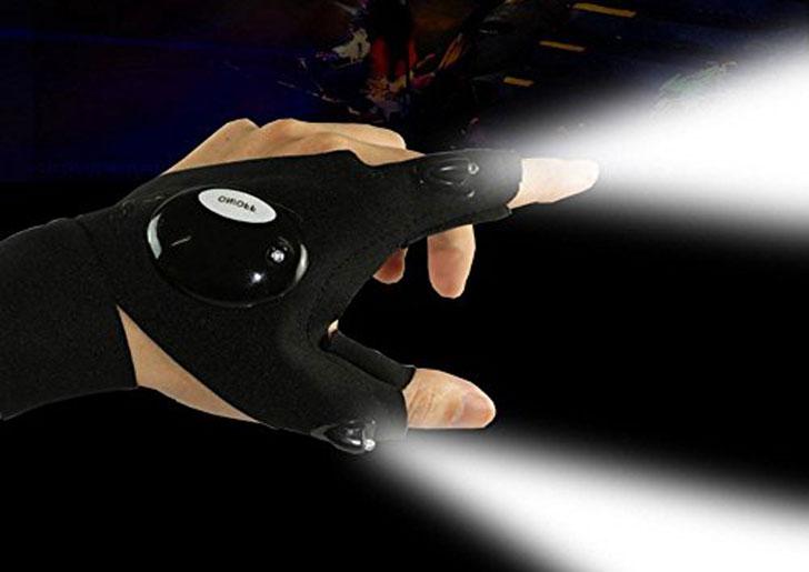LED fingerless gloves