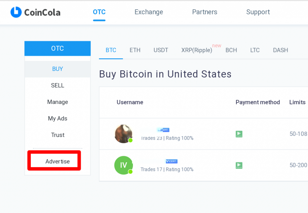 Coincola Cryptocurrency Exchange