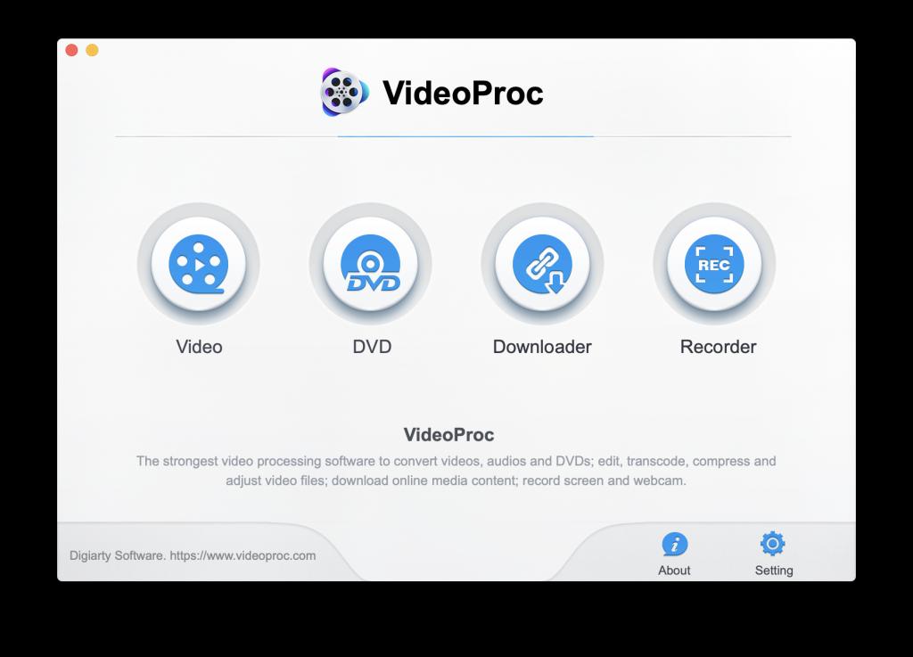 videoproc UI